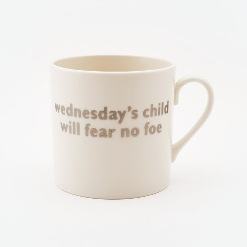 WEDNESDAY'S CHILD MUG