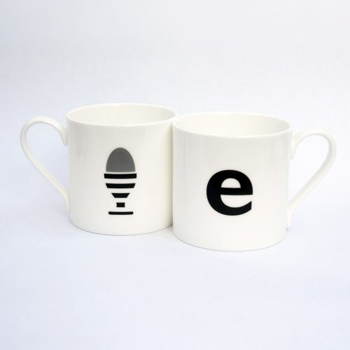 E IS FOR EGG MUG