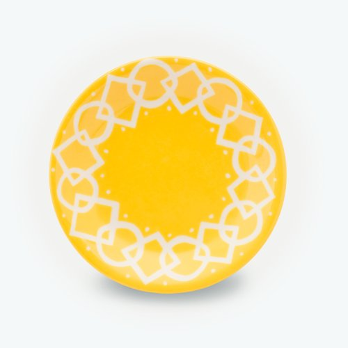 YELLOW MEDIAEVAL - SMALL PLATE