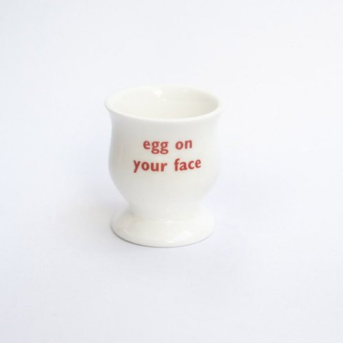 EGG ON YOUR FACE EGG CUP RED
