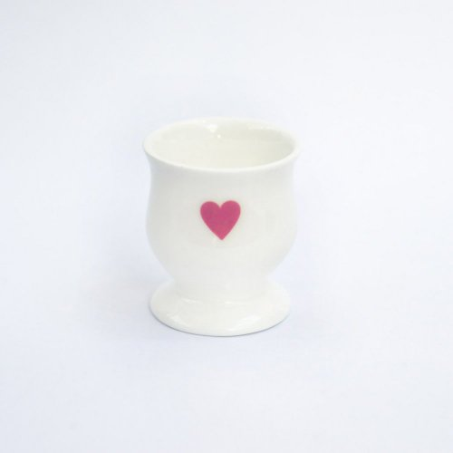 PINK HEART EGG CUP