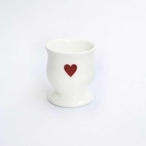 RED HEART EGG CUP