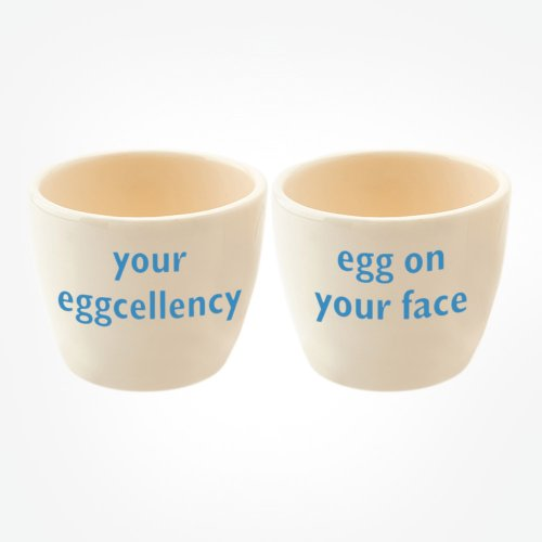 YOUR EGGCELLENCY/EGG ON YOUR FACE EGG TOT PAIR