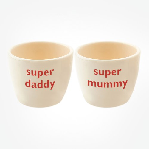 SUPER DADDY/SUPER MUMMY EGG TOT PAIR
