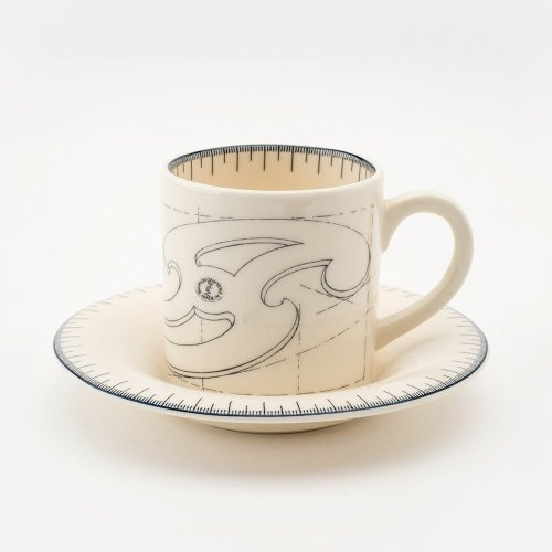 FRENCH CURVE ESPRESSO CUP & SAUCER