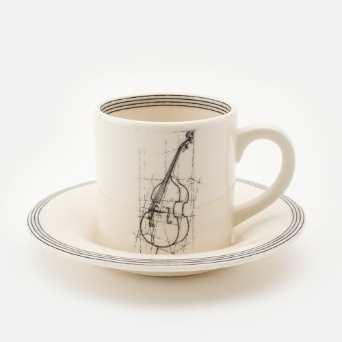 DOUBLE BASS ESPRESSO CUP & SAUCER