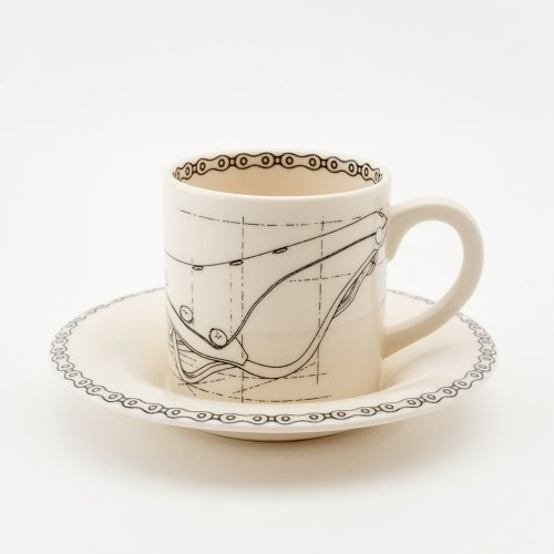 LEATHER SADDLE ESPRESSO CUP & SAUCER