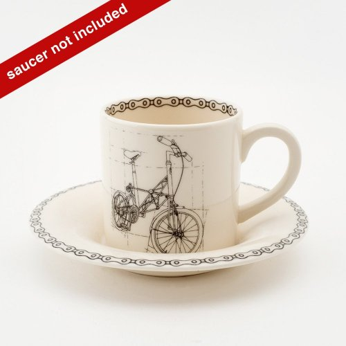 SUSPENSION BICYCLE ESPRESSO CUP & SAUCER