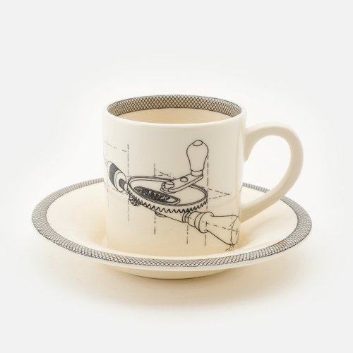 HAND DRILL ESPRESSO CUP AND SAUCER