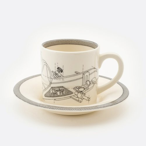 PLANE ESPRESSO CUP AND SAUCER