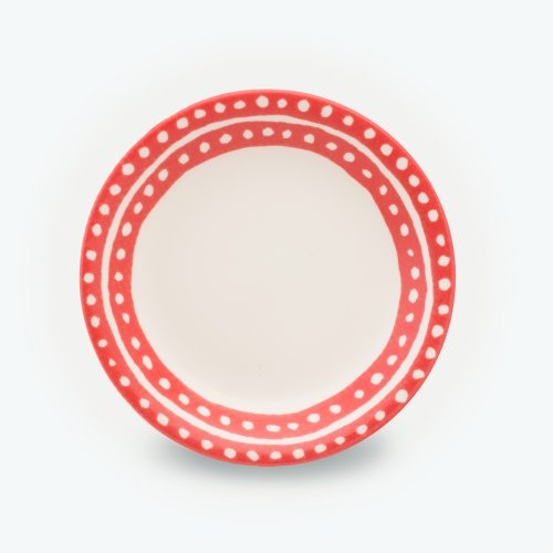 VERMILLION SMALL CIRCLE - SMALL PLATE