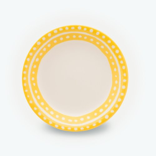 YELLOW SMALL CIRCLE PLATE