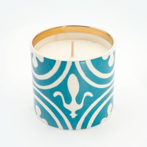 FLEUR DE LYS TURQUOISE 'BESOTTED' CANDLE