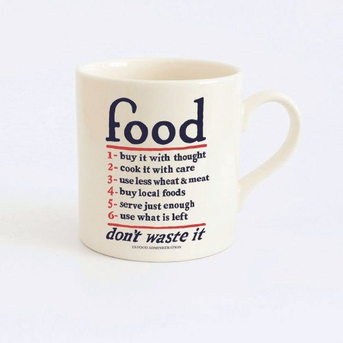 FOOD - CREAM EARTHENWARE HAND CAST MUG