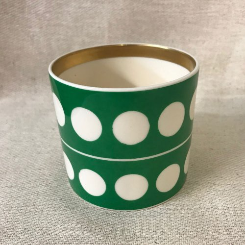 GLORIA GREEN CIRCLES SMALL PEN POT