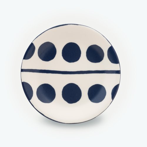 MIDNIGHT BLUE CIRCLE CREAM PLATE