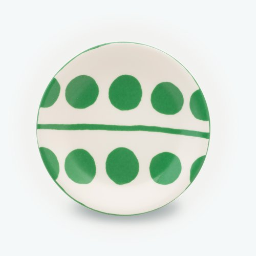 GREEN CIRCLE CREAM - SMALL PLATE