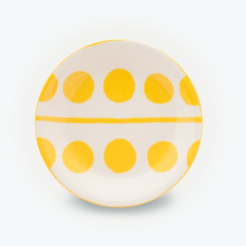 YELLOW CIRCLE CREAM PLATE