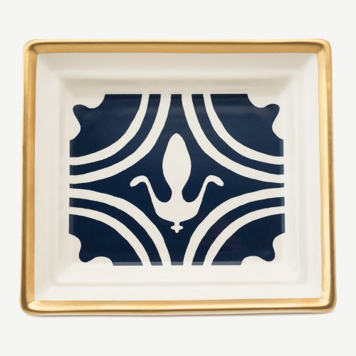 FLEUR DE LYS MIDNIGHT BLUE HALL TRAY
