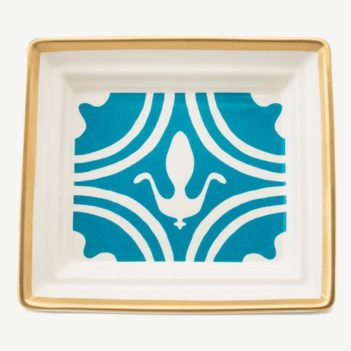 FLEUR DE LYS TURQUOISE HALL TRAY