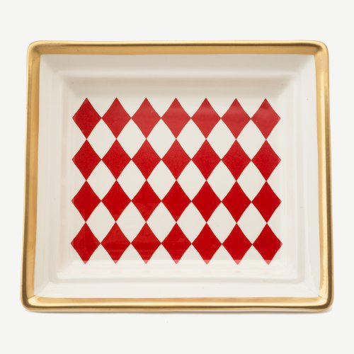 HARLEQUIN RED HALL TRAY