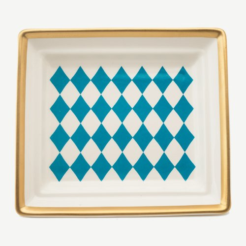 HARLEQUIN TURQUOISE HALL TRAY