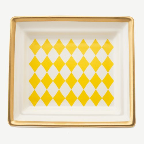HARLEQUIN YELLOW HALL TRAY