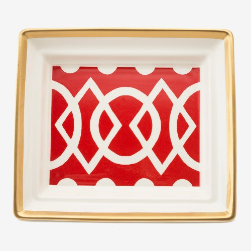 MEDIAEVAL RED HALL TRAY