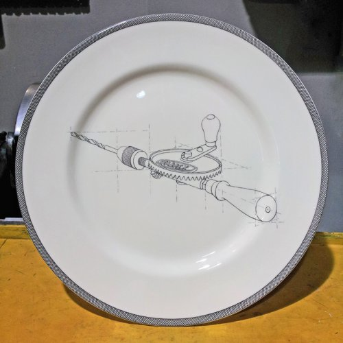 SALE! HAND DRILL DINNER PLATE