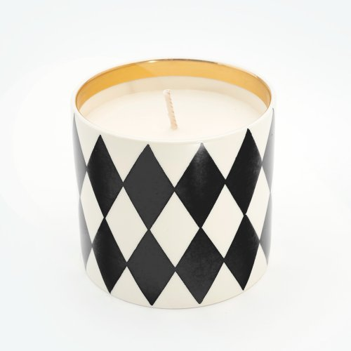 HARLEQUIN BLACK 'HOLY GRAIL' STANDARD CANDLE