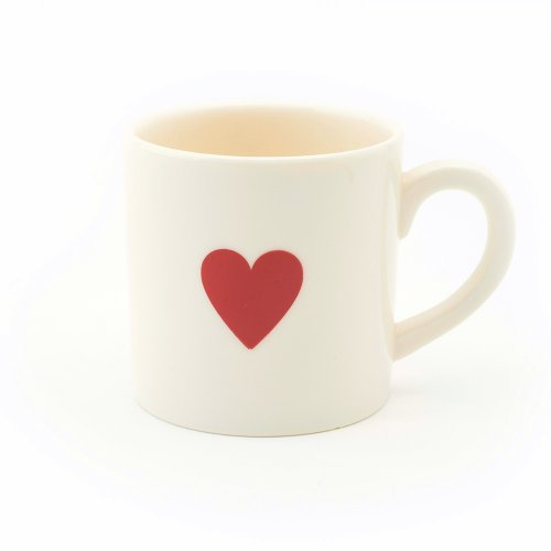RED HEART ESPRESSO CUP