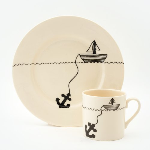 HELLO SAILOR CAKE PLATE & MUG SET