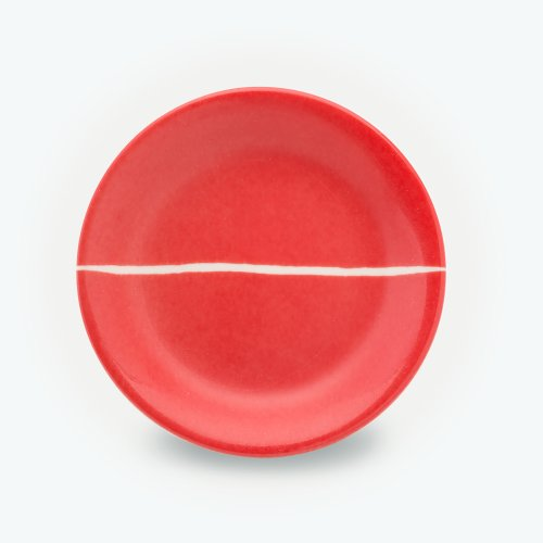 VERMILLION SEMI CIRCLE PLATE