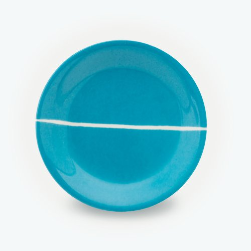 TURQUOISE SEMI CIRCLE PLATE