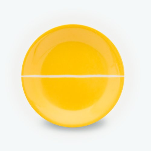 YELLOW SEMI CIRCLE PLATE