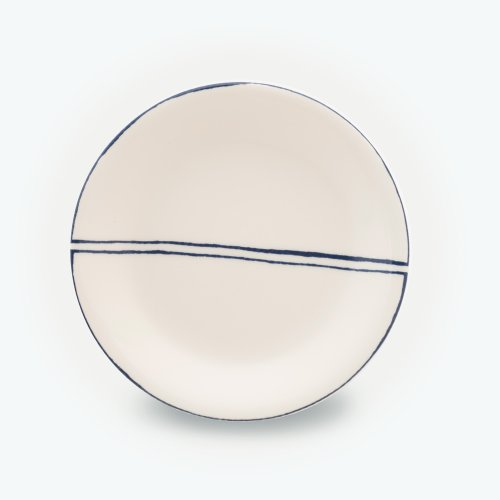 MIDNIGHT BLUE SEMI CIRCLE CREAM PLATE