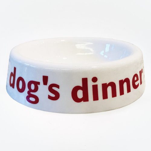 LARGE PET BOWL DOG'S DINNER