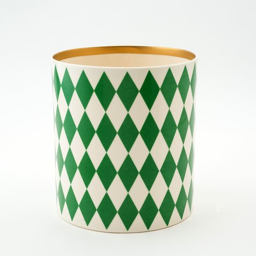 GREEN DECORATIVE VESSEL