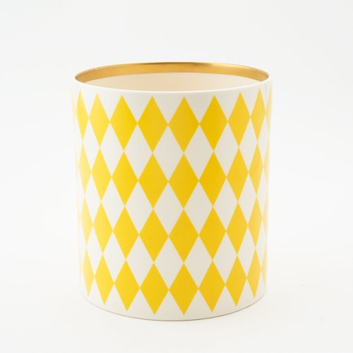 YELLOW DECORATIVE VESSEL