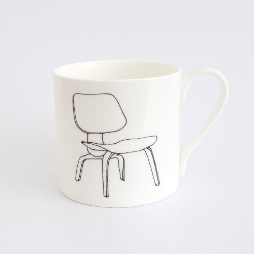 LCW CHAIR BY CHARLES & RAY EAMES HALF PINT MUG