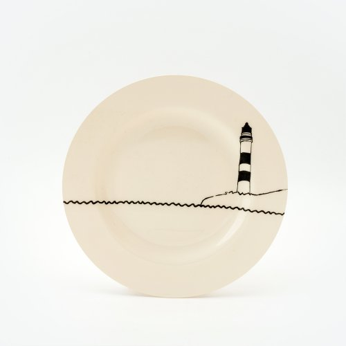 BLACK LIGHTHOUSE SIDE PLATE