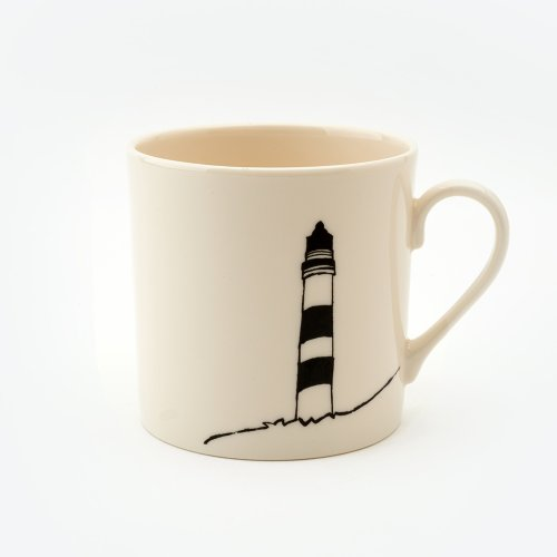 BLACK LIGHTHOUSE MUG