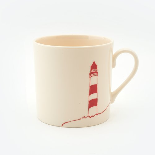 RED LIGHTHOUSE MUG