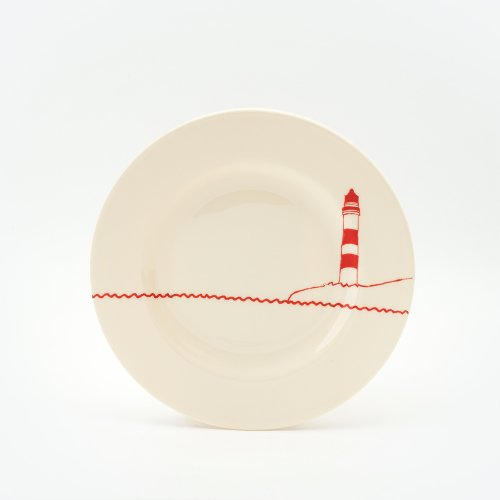 RED LIGHTHOUSE SIDE PLATE