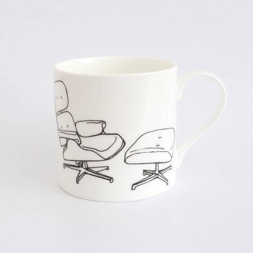 LOUNGE CHAIR BY CHARLES EAMES HALF PINT MUG