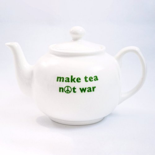 MAKE TEA NOT WAR TEAPOT