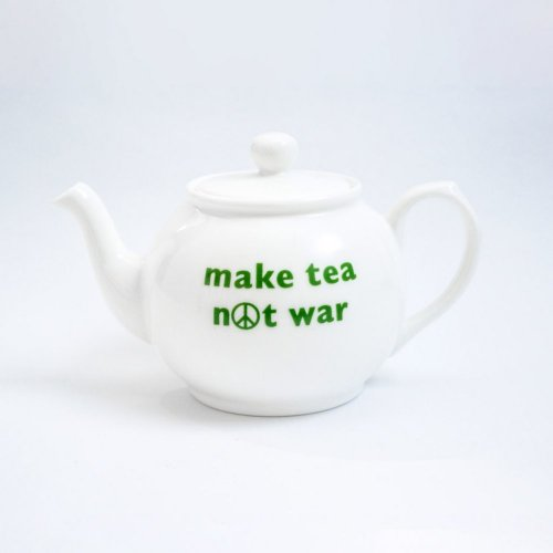 MAKE TEA NOT WAR SMALL TEAPOT