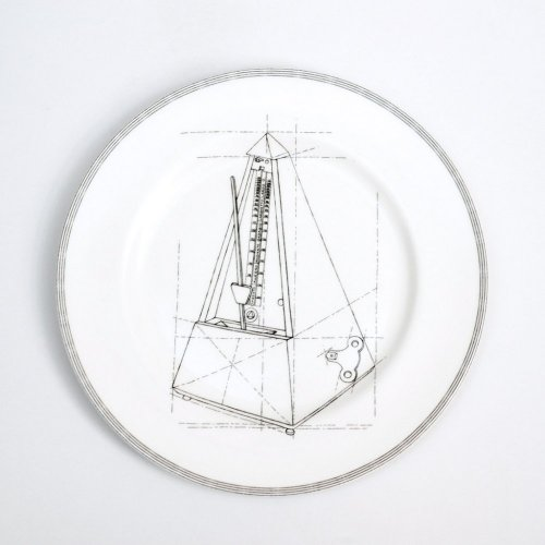 METRONOME DINNER PLATE