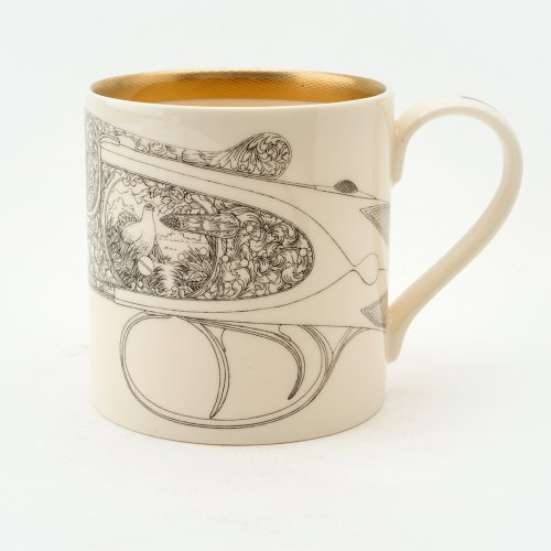 GROUSE 22CT GOLD MUG