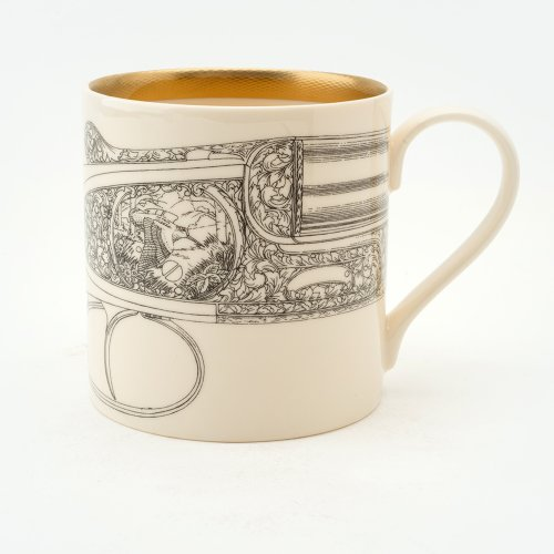 FLYING WOODCOCK 22CT GOLD MUG